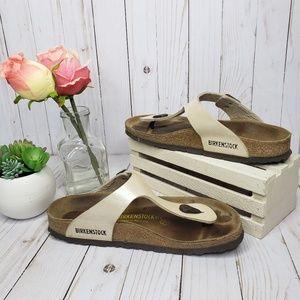 Birkenstock Pearl White Thong Sandals